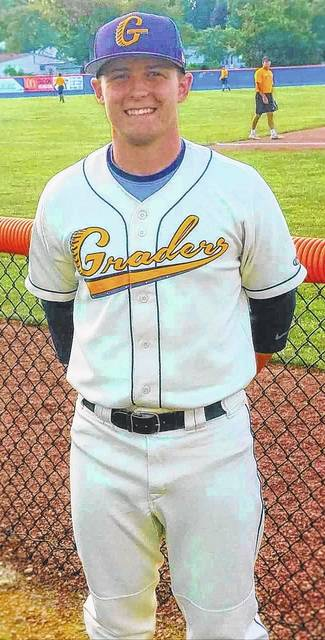 Chad Clinger | Galion Inquirer Galion Graders catcher and occasional designated hitter Matt Noel is the Graders Great of the Week for games played from June 18 through June 25.