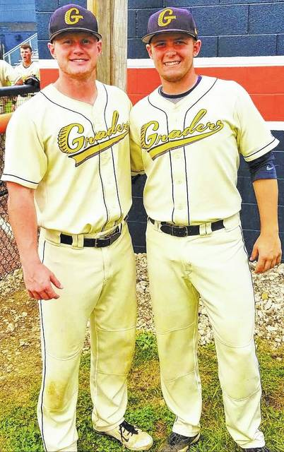 Chad Clinger | Galion Inquirer Brock Balderson (left) and repeat winner Matt Noel (right) are the Graders Greats of the Week for games played July 2-8. Also winning but not pictured was Mansfield native, Brody Basilone.