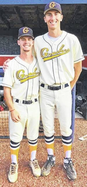 Photo submitted by Mike O'Leary, General Manager of the Graders Grant Fuller and Dustin Baird prove that great play on the field comes in all shapes and sizes. Fuller and Baird have been named the Graders Greats of the Week for games played 07/09-07/15.