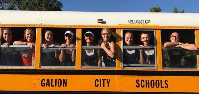 Courtesy photo The Galion Lady Tigers tennis team finished the season undefeated after defeating the Mansfield Senior Lady Tygers on Tuesday afternoon; 5-0.