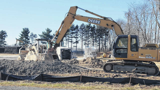 Russ Kent | Galion Inquirer Construction is continuing on a piece of property on Ohio 598 that will become a BellStores property. It will include gas and a DQ.