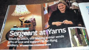Woman's mission: Knitting socks for soldiers