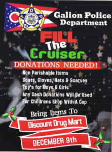 Stuff the Cruiser on Saturday at Drug Mart