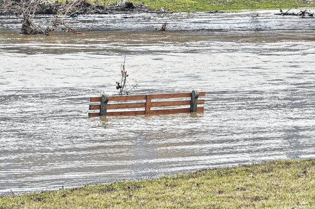 Photo courtesy Jeff Hoffer Heavy rains, mixed, combined with saturated ground, caused some minor flooding in north central Ohio, including in the Bellville area. This photo was taken Sunday. The National Weather Service is predicting dry weather today and Tuesday, but rain is in the forecast Wednesday, Thursday and Friday.