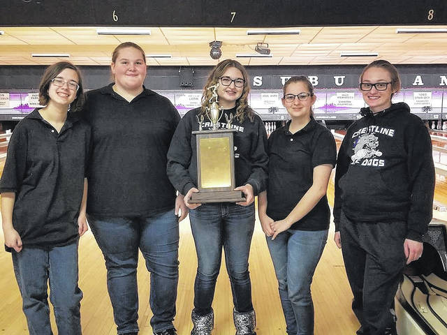 Submitted photo The 2018 Crawford County girls bowling champions: The Crestline Lady Bulldogs