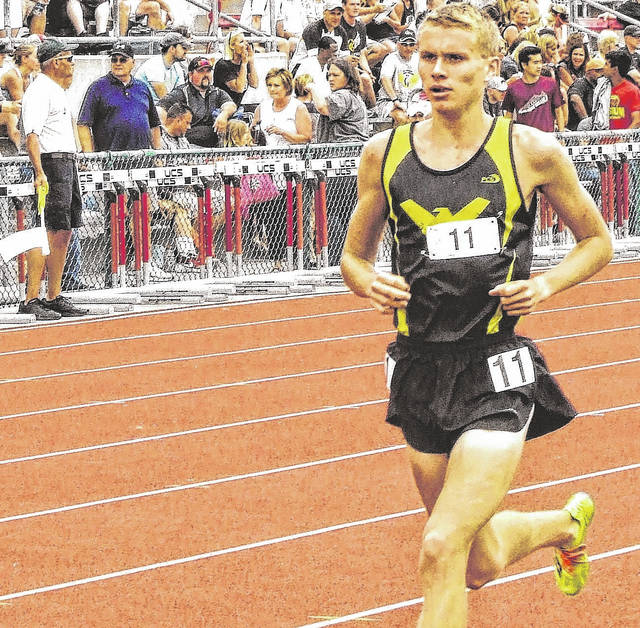 Archive photo Chad Johnson is back for his senior season for the Colonel Crawford Eagles track squad and will be looking to add to his trophies, medals and various other honors in 2018.