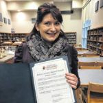 Galion school board honors GHS French teacher with Believe, Achieve, Succeed Award