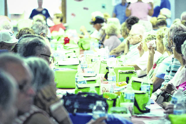 Erin Miller | Galion Inquirer Senior Citizens Day is always a popular event at the Crawford County Fair. This crowd had plenty of fun at the Youth Building. This year's Senior Day is July 19.