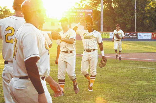 Erin Miller | Galion Inquirer It was a beautiful weekend for baseball and the Galion Graders took advantage of it. On Friday, the hometown Graders swept the visiting Richmond Jazz in both games of a doubleheader to snap a seven-game losing skid and inch back to .500 on the season.