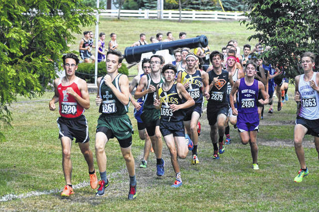 Div. III boys race at Galion Cross Country Festival, Sept. 16, 2017. Photo by Don Tudor.